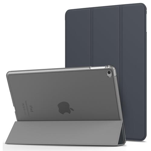 MIIU (TM) Ultra Thin Magnetic Smart Cover & Black Back Case for Apple iPad Air 2 (6th Gen) A1566 A1567