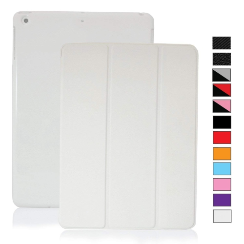 MIIU Ultra Thin Magnetic Smart Cover & Clear Back Case for Apple iPad Air 2013 (5th Gen), White