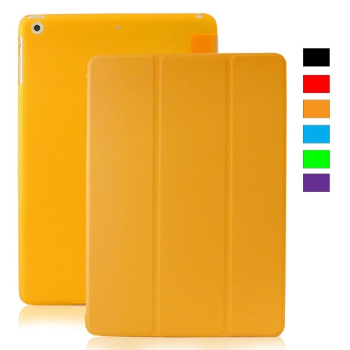 MIIU (TM) Yellow Ultra Thin Magnetic Smart Cover Back Case for Apple iPad Air (5th Gen) For Ipad air 1 A1474 A1475 A1476