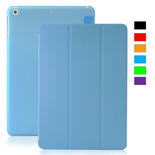 MIIU (TM) Light Blue Ultra Thin Magnetic Smart Cover Back Case for Apple iPad Air (5th Gen) For Ipad air 1 A1474 A1475 A1476