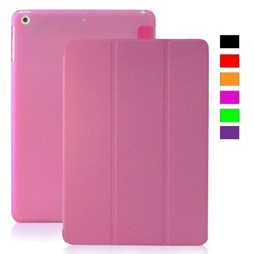 MIIU (TM) Pink Ultra Thin Magnetic Smart Cover Back Case for Apple iPad Air (5th Gen) For Ipad air 1 A1474 A1475 A1476