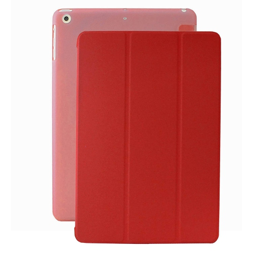 MIIU Ultra Thin Magnetic Smart Cover & Clear Back Case for Apple iPad Air 2013 (5th Gen), Red