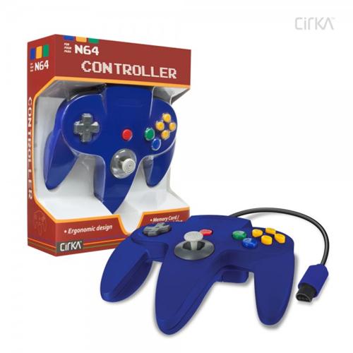CONTROLLER N64 - BLUE CIRKA