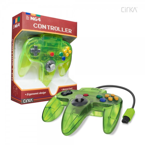 CONTROLLER N64 - CLEAR CYANINE/JUNGLE CIRKA