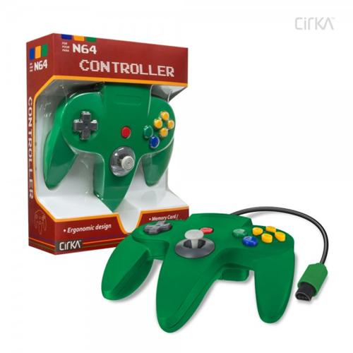 CONTROLLER N64 - GREEN CIRKA