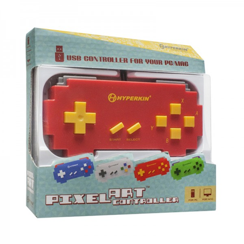 CONTROLLER SNES USB PIXEL ART RED ONLY FOR PC AND MACTOMEE