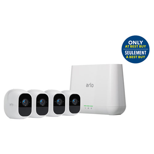 Arlo Pro 2 Wireless Indoor/Outdoor Security System with 4 1080p HD Cameras - White - Best Buy Only
