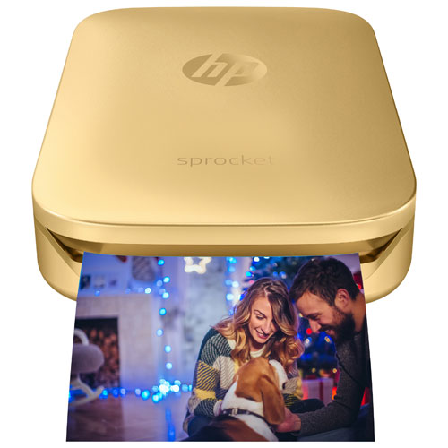 HP Sprocket Z3Z94A Bluetooth Photo Printer - Gold
