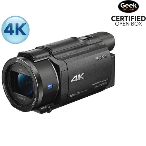 cam scope 4k m moire flash ax53 handycam de sony bo te ouverte cam scopes best buy canada. Black Bedroom Furniture Sets. Home Design Ideas