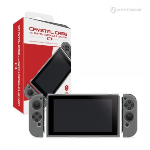 CASE SWITCH JOY-CON AND CONSOLE (CRYSTAL CASE) (HYPERKIN)