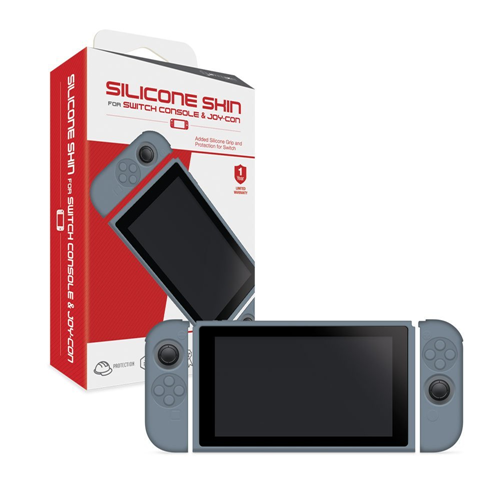 SKINS SWITCH JOY-CON AND CONSOLE SILICONE (NEO GRAY) (HYPERKIN)