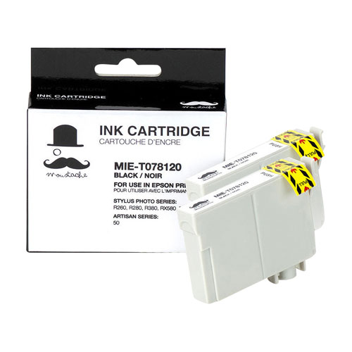 Moustache Black Ink for Epson Printers (T078120) - 2 Pack