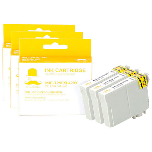 Moustache Yellow Ink for Epson Printers (T252XL420) - 3 Pack