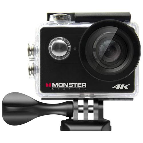Monster Digital Waterproof 4K Sports & Helmet Camera : Wearable ...