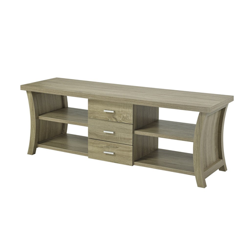 "Candace & Basil 60"" TV Stand with Storage, Dark Taupe"