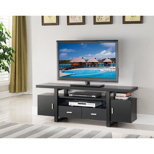 "Candace & Basil 60"" TV Stand with Storage, Dark Cherry"