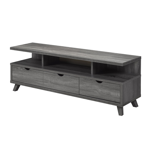 "Candace & Basil 60"" TV Stand with Storage,Grey"