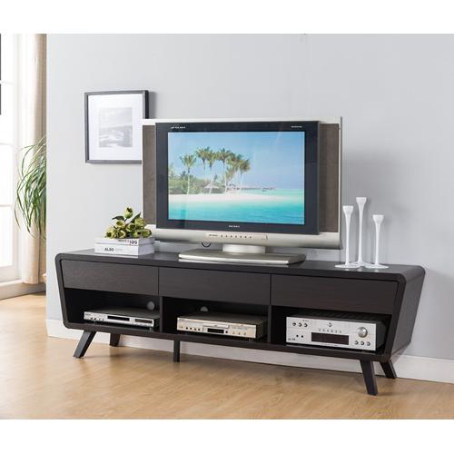 "Candace & Basil 60"" TV Stand with Storage, Dark Cherry"