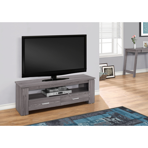 "Candace & Basil TV Stand - 48""L / Grey With 2 Storage Drawers"