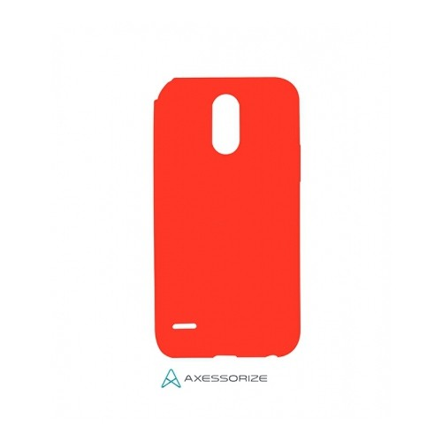 Axessorize COMBO Silicone Case LG Stylo 3 Plus Candy Red + Tempered Glass