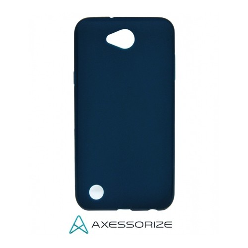 Axessorize COMBO Silicone Case LG X Power 2 Cobalt Blue + Tempered Glass