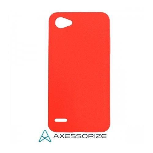 Axessorize COMBO Silicone Case LG Q6 Candy Red + Tempered Glass