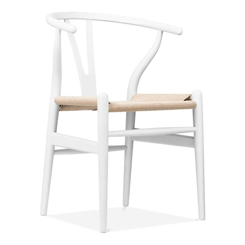 GFURN Reproduction Of Hans Wegner Wishbone Chair CH24 Y Chair   White U0026  Natural Paper Cord : Patio Chairs U0026 Seating   Best Buy Canada