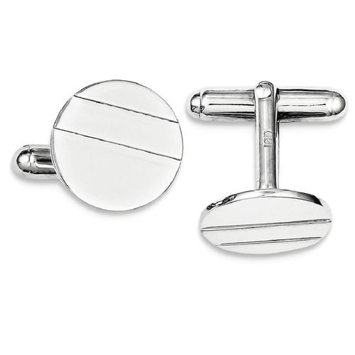 IceCarats 925 Sterling Silver Circle Cuff Links Mens Cufflinks Men Link