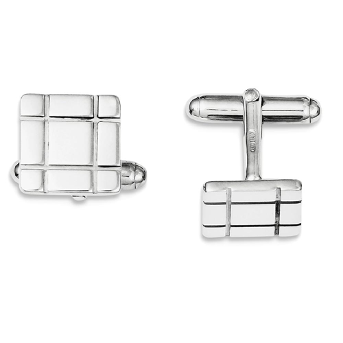 IceCarats 925 Sterling Silver Grooved Design Cuff Links Mens Cufflinks Men Link