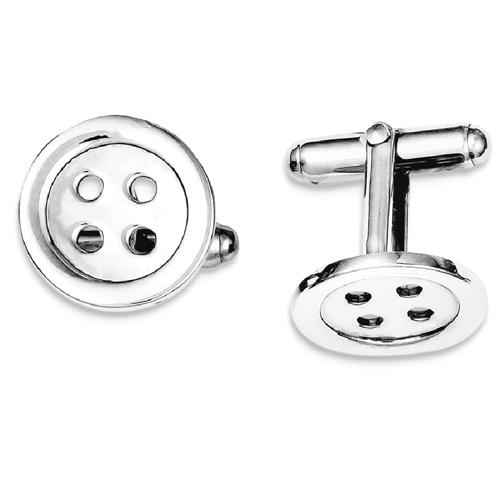 IceCarats 925 Sterling Silver Button Cuff Links Mens Cufflinks Men Link