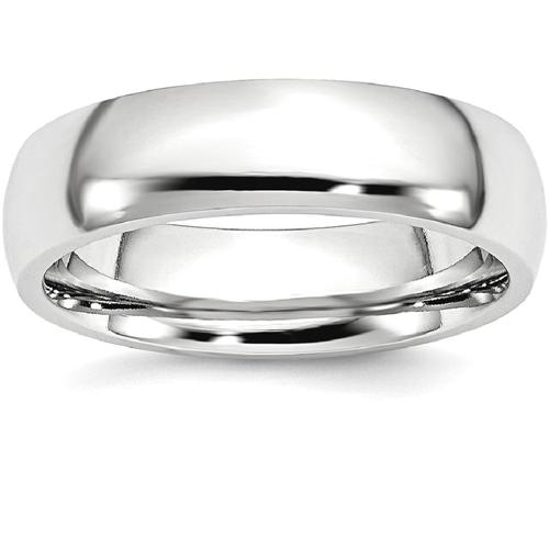 IceCarats Cobalt 6mm Wedding Ring Band Size 8.00 Classic Domed