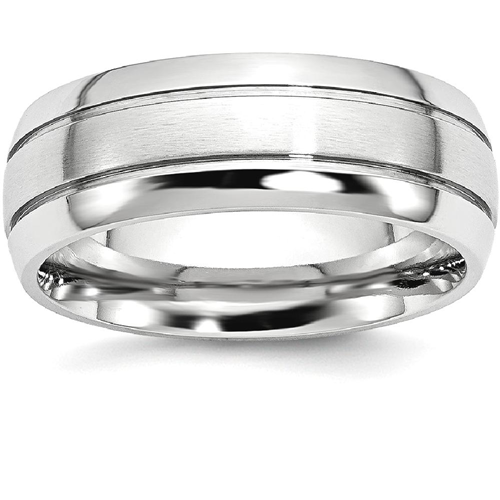 IceCarats Cobalt Grooved 8mm Wedding Ring Band Size 12.00