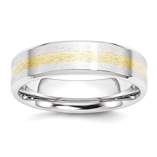 IceCarats Cobalt 14k Gold Inlay 6mm Wedding Ring Band Size 11.00 Preciou Metal