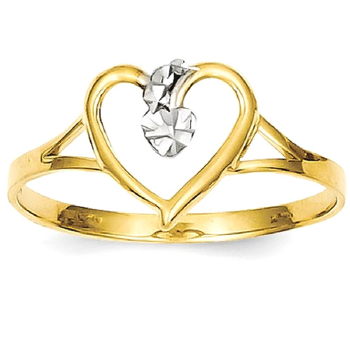 IceCarats 14k Yellow Gold Cut Out Heart Band Ring Size 600 Love Rings