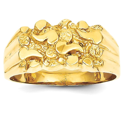 IceCarats 14k Yellow Gold Nugget Band Ring Size 7.00