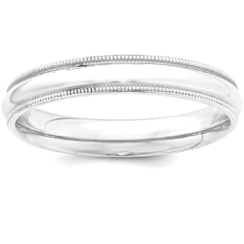 IceCarats 925 Sterling Silver 4mm Milgrain Comfort Fit Wedding Ring Band Size 4.50 Classic Half Round Comt