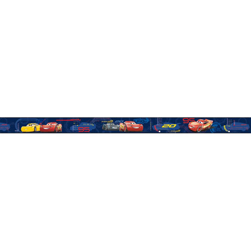 York Wallcoverings Disney Pixar Cars 5 Sure Strip Wallpaper Border   Blue