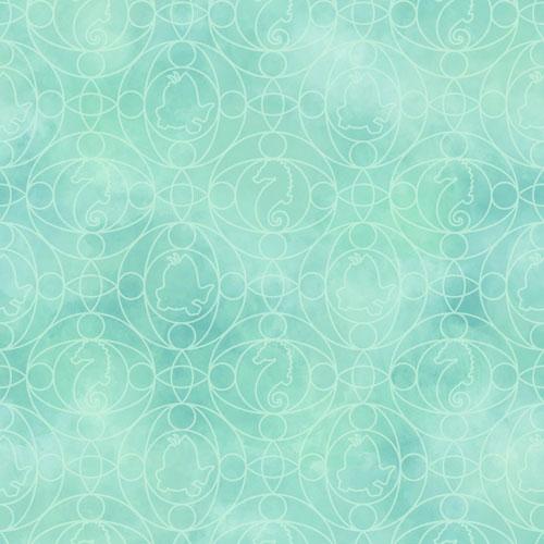 York Wallcoverings Disney Ariel Geo Sure Strip Wallpaper - Green