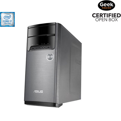 ASUS VivoPC Desktop PC (Intel Core i7-7700/1TB HDD/12GB RAM/NVIDIA GeForce GTX1050/Win 10)-Open Box