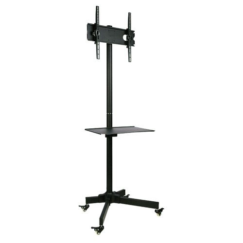 "GlobalTone Rolling TV Cart Stand Mobile Trolley for LED LCD Plasma 23"" to 55"""