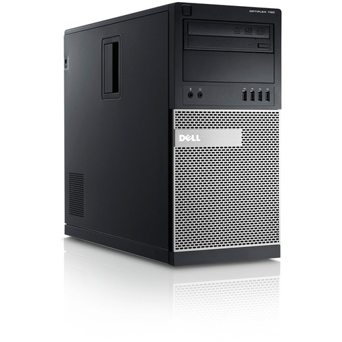 Dell 790 Tower PC, Intel I5 2400 3.1G CPU, 4GB RAM, 500GB HDD, DVDRW, Windows 10, Refurbished