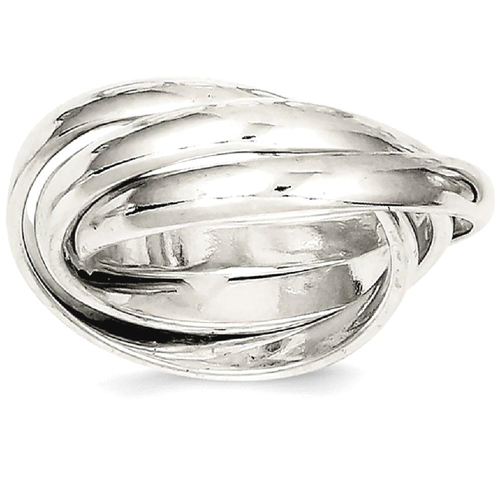 Icecarats 925 Sterling Silver Rolling Wedding Ring Band Size 6 00