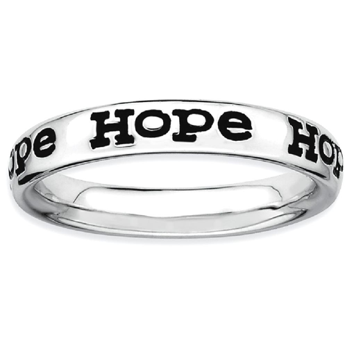 IceCarats 925 Sterling Silver Enameled Hope Band Ring Size 6.00 Stackable