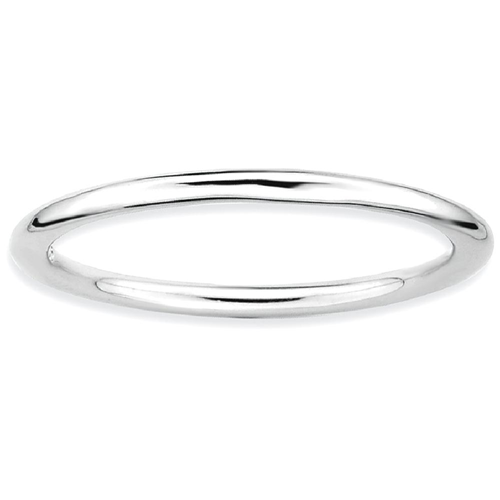 IceCarats 925 Sterling Silver Band Ring Size 8.00 Stackable Smooth