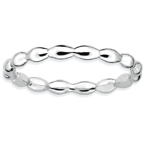 IceCarats 925 Sterling Silver Rice Band Ring Size 8.00 Stackable Fancy