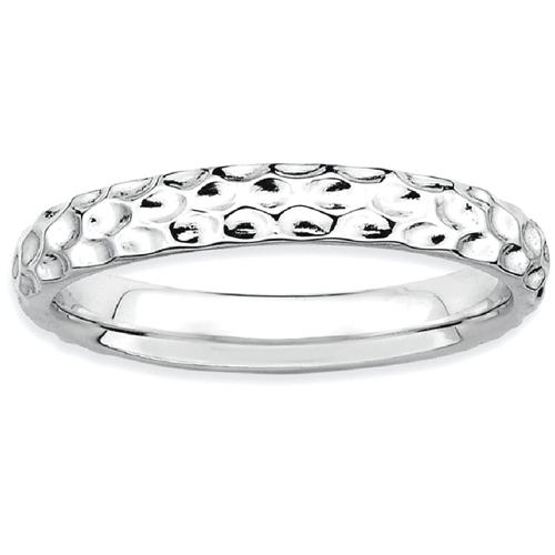 IceCarats 925 Sterling Silver Band Ring Size 9.00 Stackable Fancy