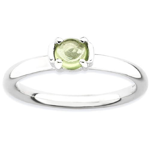 IceCarats 925 Sterling Silver Green Peridot Band Ring Size 9.00 Stone Stackable Gemstone Birthstone August