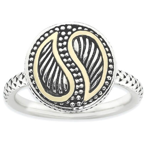 IceCarats 925 Sterling Silver 14k Band Ring Size 10.00 Stackable