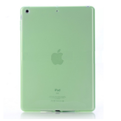 Ipad Air 2 Soft Gel TPU Transparent Case - Green