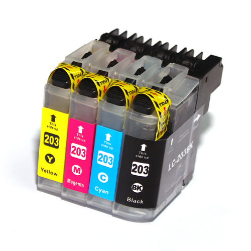 C1 Compatible 4PK LC203XL CMYK Ink Cartridges for Brother MFC-J4320DW/J4620DW/J5520DW/J5620DW/J460DW/J680DW/J880DW